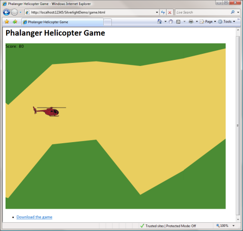 Go to the helicopter game