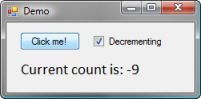Counting clicks with decrement checkbox